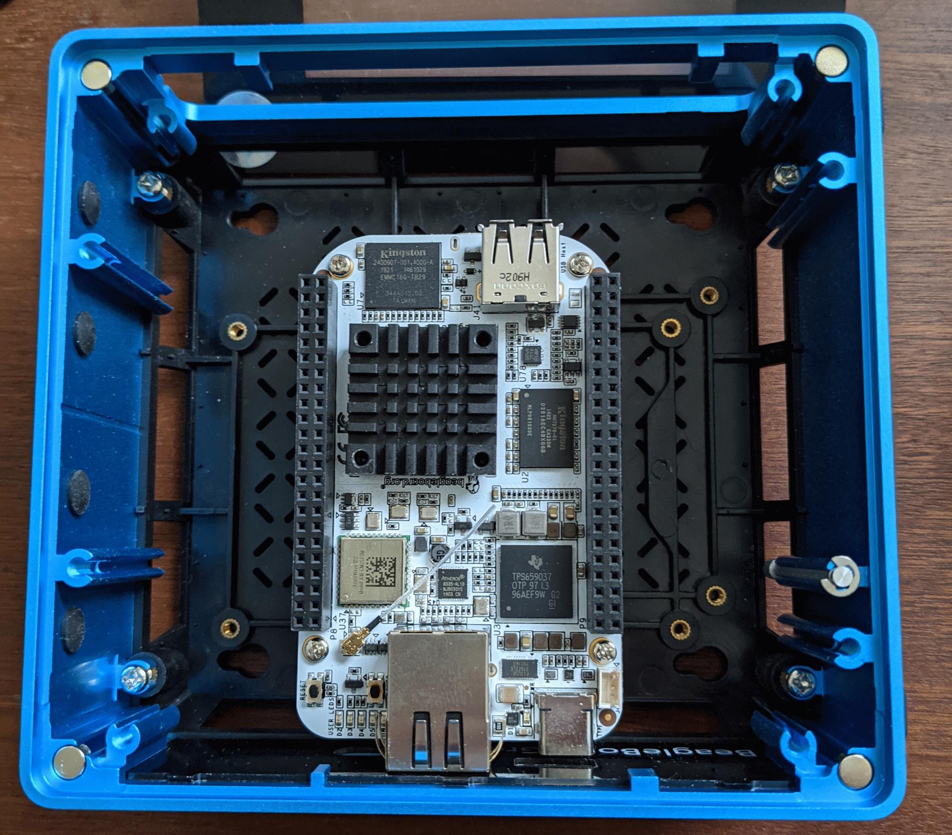re_computer Case with BeagleBone AI